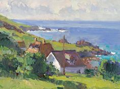 Cornwall Colors by Richard Oversmith Oil ~ 12 x 16