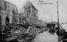 The 1908 Messina earthquake in Italy, triggered a large tsunami that took about 123,000 lives.