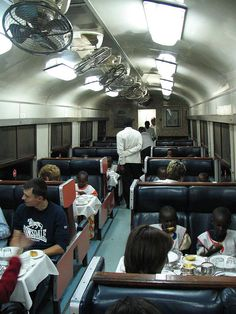 Mombasa-Nairobi train.  I'm in shock.  We never had anything this nice on the train!
