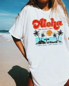 Outfit Inspired by vintage beach graphics, this tee is your new summer go-to. Knot it up, grab your favorite pair of distressed denim shorts, and hit . Distressed Denim Shorts, Trendy Outfits, Cute Outfits, Fashion Outfits, Beach Outfits, Teen Beach Outfit, Spring Outfits, Winter Outfits, Vegas Outfits
