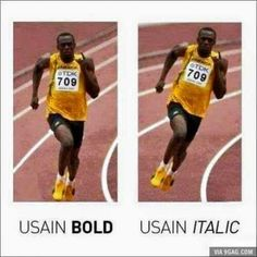Usain bold