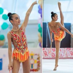 "Nastya in a bathing suit ""Fire extravaganza"" … - Leotards Gymnastics Competition Leotards, Rhythmic Gymnastics Leotards, Dance Leotards, Ballet Leotards For Girls, Group Costumes, Dance Outfits, Bathing Suits, Swimsuits, Celebs"