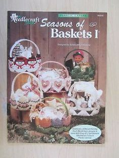 Seasons of Baskets plastic canvas books 1 and 2 Plastic Canvas Books, Plastic Canvas Ornaments, Plastic Canvas Christmas, Plastic Canvas Crafts, Plastic Canvas Patterns, Diy Christmas Lights, Christmas Minis, Stocking Stuffers For Girls, Holiday Baskets