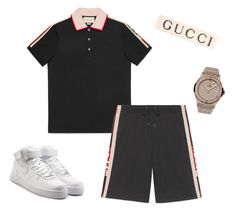 A menswear look from October 2017 featuring mens polo shirts, men's activewear and mens leather sneakers. Browse and shop related looks. Dope Outfits For Guys, Swag Outfits Men, Stylish Mens Outfits, Boy Outfits, Teen Boy Fashion, Tomboy Fashion, Hip Hop Fashion, Men's Fashion, Look Hip Hop