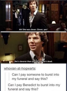 Sassy Sherlock strikes again...