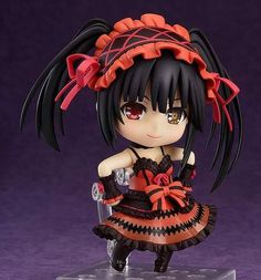 Kurumi Tokisaki Nendoroid Figure ~ Date A Live II $48.00 http://thingsfromjapan.net/kurumi-tokisaki-nendoroid-figure-date-live-ii/ #date a live #kurumi tokisaki figure #anime figure