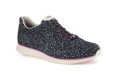Womens Sports Shoes - Junelle Pace in Navy Suede from Clarks shoes