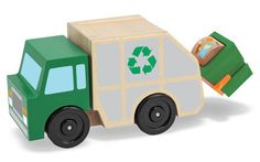Melissa and Dough= Recycling Garbage Truck Toy