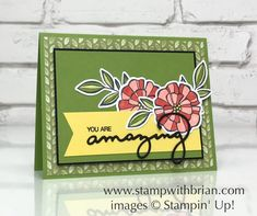 Falling Flowers, Celebrate You Thinlits Dies, Dare to Dream, Stampin' Up!, Brian King