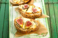 goat's cheese and fig toasted open sandwich