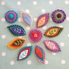 Felt and embroidery brooches