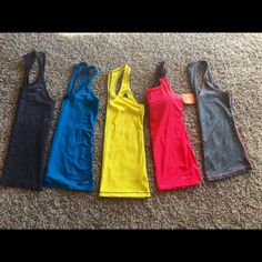 5 ATHLETIC TANKS ALL SIZE SMALL All flawless one still with tags! Tis' the season to get fit! ☀️☀️ Adidas Tops Tank Tops