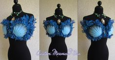 How to Make a Mermaid Bra tutorial! This is great, good idea! Could be altered for other styles.