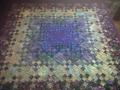 Blooming 9 Patch Throw Quilt by EricTheQuilter on Etsy                                                                                                                                                                                 More