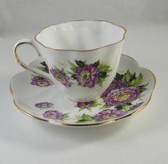 Vintage tea cup Salisbury c1927 Eventide Puple by FeliceSereno,