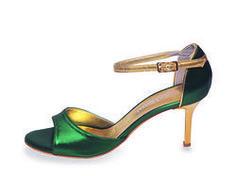 Beso Green Metallic Leather