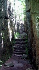 Stone steps, Lake Superior.