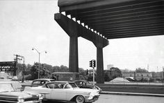 Bruckner Expressway and Lafayette Avenue - before its completion (c1950s / early 60s)