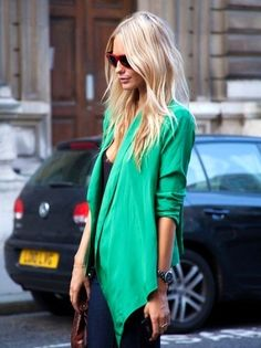 green blazer perfect for patty's day