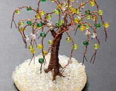 Willow of Copper Wire Tree Sculpture Original by salvatore7