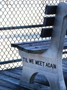 "I got a new ""used"" bench today from savers for outside...this saying is cute for it!!"