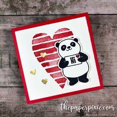 Today's project is a mini 3×3 Valentine featuring the free Party Pandas stamp set you can earn with a $50 order! Goodness I love those pandas! I'm thinking this will be the Valentine my kiddos will give to their classmates. What do you think? Do you know where those little gold hearts came from? The…