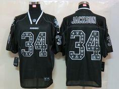 Oakland Raiders #34 Bo Jackson Stitched Black Nike Sideline United Jersey
