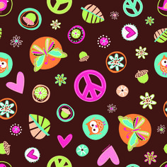 Hippie Chick Gift Wrap