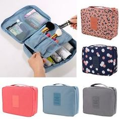 Large Cosmetic Bag Makeup Case Hang Travel Wash Toiletry Organizer Storage Pouch | eBay