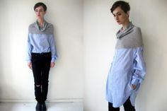 10 façons de transformer les chemises d'hommes en des vêtements pour femmes: laquelle de ces techniques allez-vous choisir? Transformers, Remake Clothes, Blessed Shirt, Couture Sewing, Facon, Refashion, Blouse, Ideias Fashion, Upcycle
