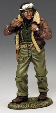 World War II U.S. Army Air Corps / Air Force AF023 Tuskegee Captain Lee Buddy Archer - Made by King and Country Military Miniatures and Models. Factory made, hand assembled, painted and boxed in a padded decorative box. Excellent gift for the enthusiast.