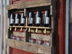 Yep. Recycled wood pallet wine rack