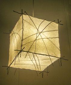 Picture Cabin Lighting, Rustic Lighting, Cool Lighting, Lighting Ideas, Tissue Paper Lanterns, Element Lighting, Deco Luminaire, Paper Lampshade, Jar Chandelier