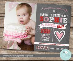 VALENTINE BIRTHDAY INVITATION Sweetheart by littlebirdieprints, $16.50