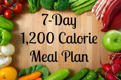 7 Day, 1200 calorie meal plan