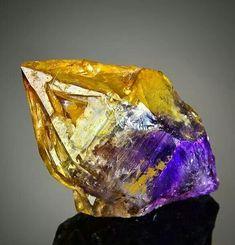 Enhydro Skeletal Citrine Crystal.