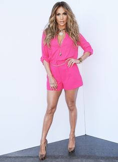 This Just In: Jennifer Lopez Looks Phenomenal in a Neon Onesie  #InStyle