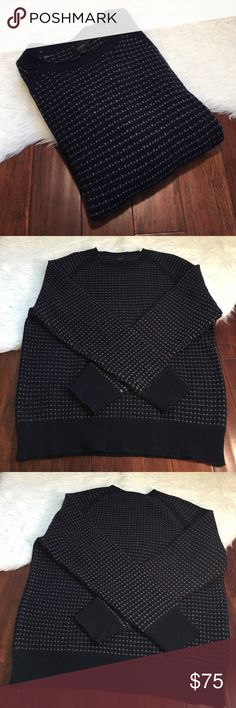 Men's | J. Crew | Navy Lamb Wool Crew Neck Sweater In excellent used condition. Only worn one. No flaws. Made from 100% lambs wool. J. Crew Sweaters Crew & Scoop Necks