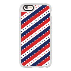 STARS AND STRIPES RED WHITE BLUE INDEPENDENCE DAY AMERICAN FOURTH 4TH... ($40) ❤ liked on Polyvore featuring accessories, tech accessories, iphone case, iphone cases, iphone cover case, red iphone case, apple iphone cases and iphone hard case