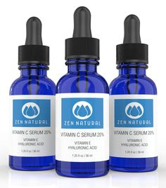Vitamin C Serum 20% for Face and Skin - With Botanical Hyaluronic Acid and Vitamin E   FREE Bonus E-book Guide on Skin Care & Anti Aging.   Organic Jojoba Oil - 1.25 fl oz