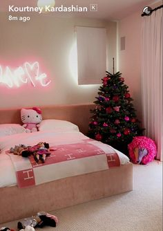 Lucky girl! Kourtney Kardashian has revealed her daughter Penelope, four, has her very own Christmas tree in her bedroom