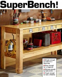 Simple Workbench Plans - Workshop Solutions Projects, Tips and Tricks - Woodwork, Woodworking, Woodworking Plans, Woodworking Projects