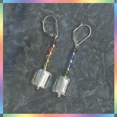 Rainbow on Ice Handmade Earrings by obeltane on Etsy