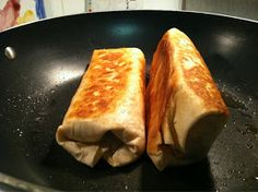 not-so-deep-fried chimichangas- simple idea, pinning it so I remember to try another twist on burrito night.. I love mexican food! :)