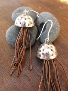currents earrings  Artisan metalsmith jewelry by AThousandJoys, $165.00