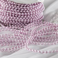 Lavender Fused String Pearl Beads