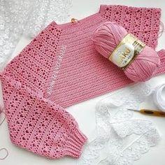 Top # 35 # Different # Knitting – crochet pattern Crochet Girls, Love Crochet, Crochet Motif, Crochet Designs, Crochet Stitches, Crochet Baby, Crochet Top, Baby Knitting, Diy Crafts Crochet