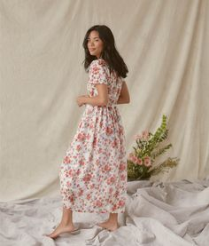 30 Everyday Dresses to Wear at Home This Summer Simple Dresses, Pretty Dresses, Mandarin Dress, Coral Dress, Eyelet Dress, Everyday Dresses, Tiered Dress, Your Girl, Get Dressed