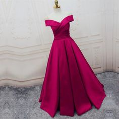 long satin off the shoulder prom evening dresses ball gowns