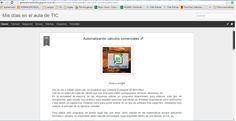 Tarea 2.3 de TIC. Automatizando cálculos comerciales (primera parte de la entrada del blog)